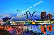 天池桥夜色