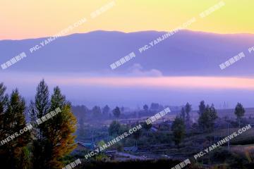 小白石山村的早晨